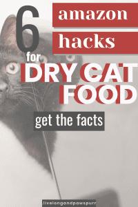 Amazon hacks for dry cat food #amazon #cathacks #catfood #drycatfood